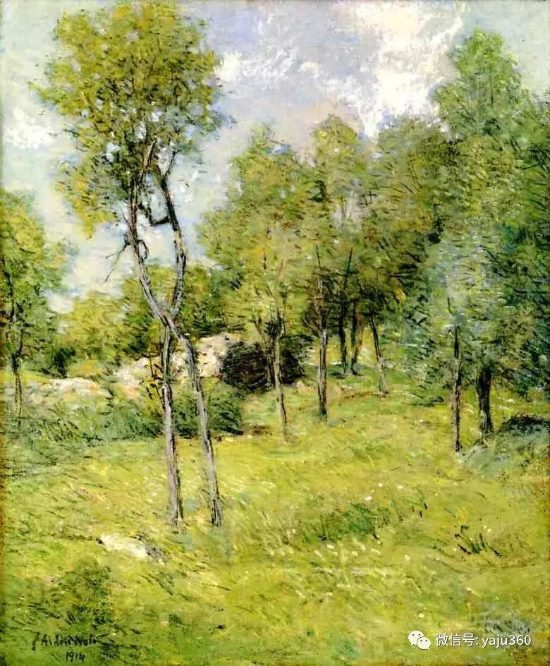 油画世界:美国印象派画家朱利安·奥尔登·威尔油画作品插图9