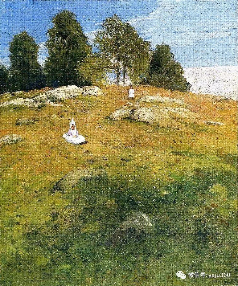油画世界:美国印象派画家朱利安·奥尔登·威尔油画作品插图10