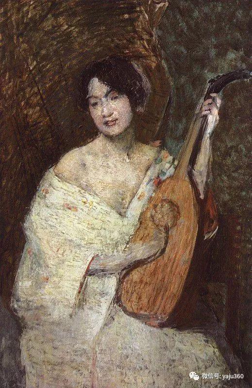 油画世界:美国印象派画家朱利安·奥尔登·威尔油画作品插图12
