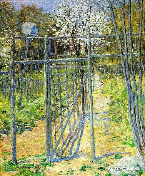 油画世界:美国印象派画家朱利安·奥尔登·威尔油画作品插图13