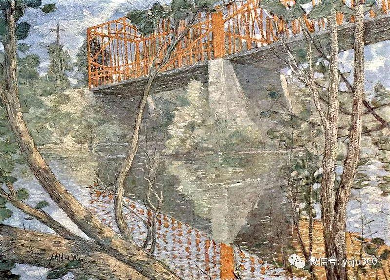 油画世界:美国印象派画家朱利安·奥尔登·威尔油画作品插图15