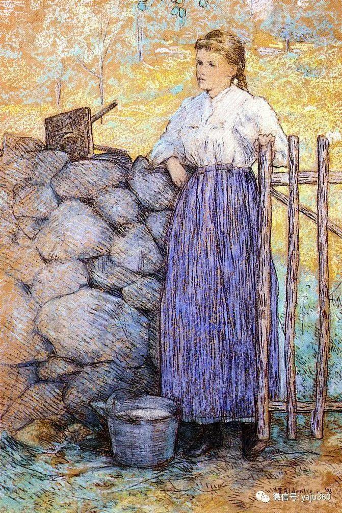 油画世界:美国印象派画家朱利安·奥尔登·威尔油画作品插图17
