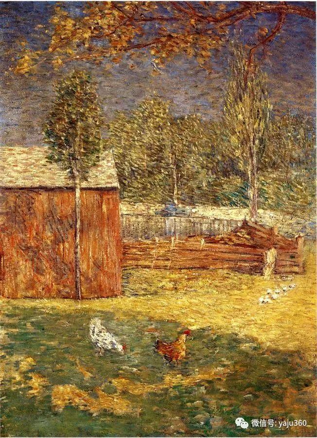 油画世界:美国印象派画家朱利安·奥尔登·威尔油画作品插图18