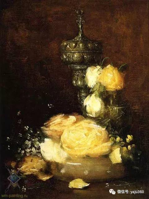 油画世界:美国印象派画家朱利安·奥尔登·威尔油画作品插图19