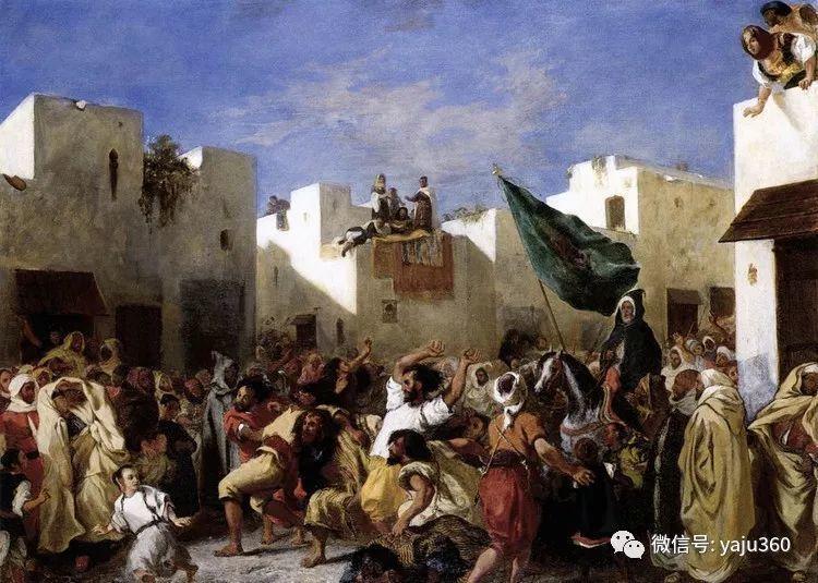 油画世界:法国画家Eugène Delacroix油画作品欣赏插图15
