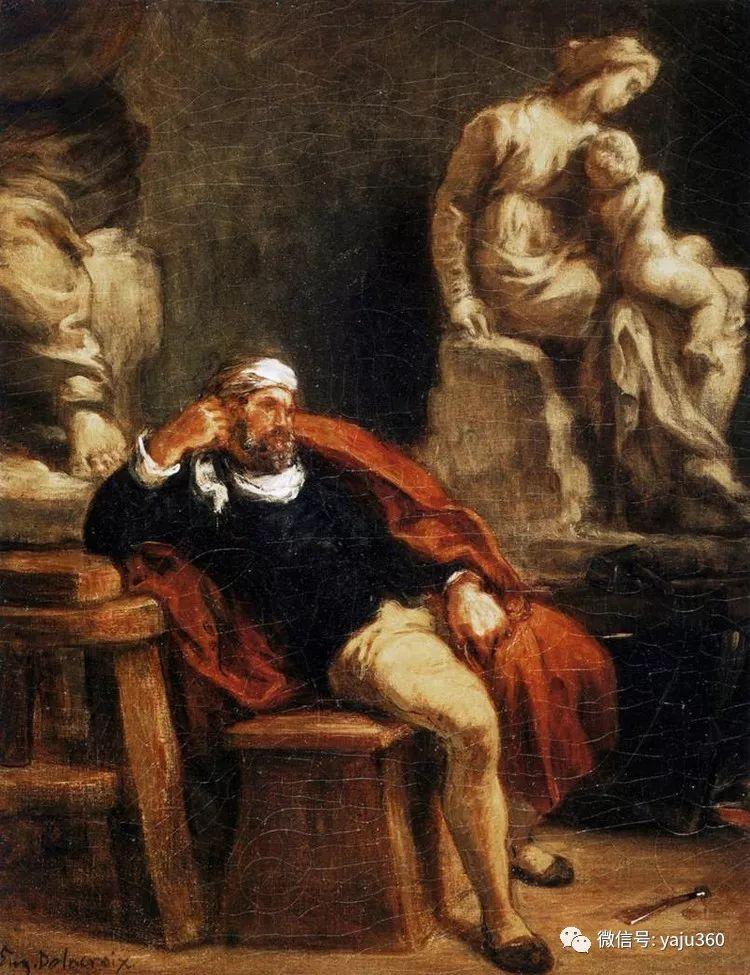 油画世界:法国画家Eugène Delacroix油画作品欣赏插图27