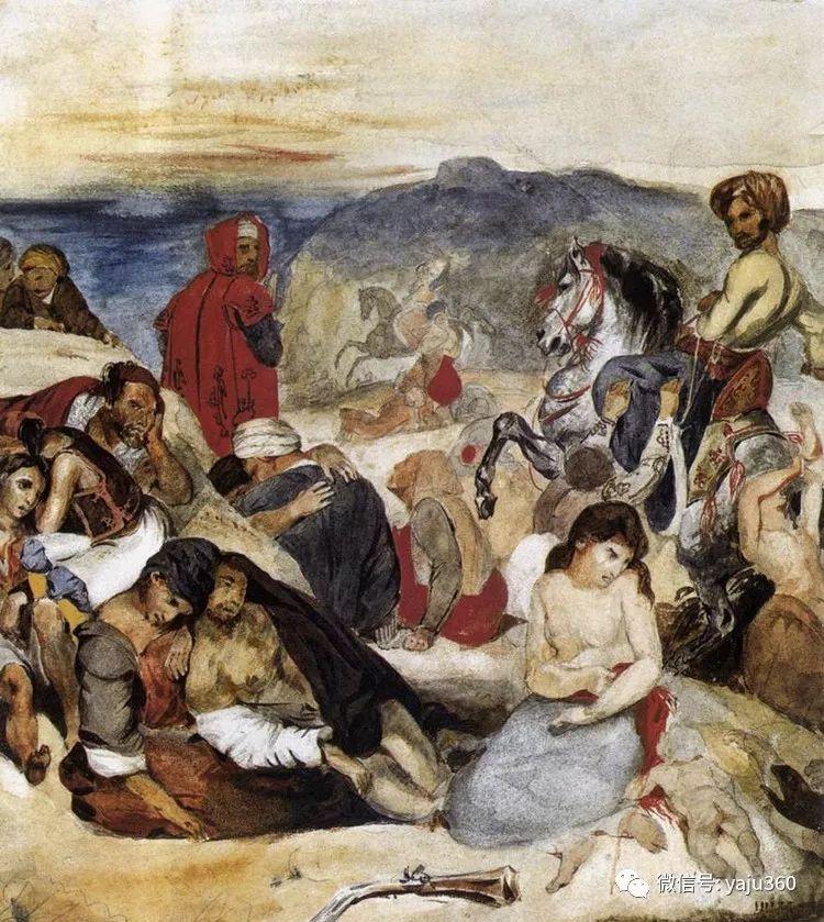 油画世界:法国画家Eugène Delacroix油画作品欣赏插图33