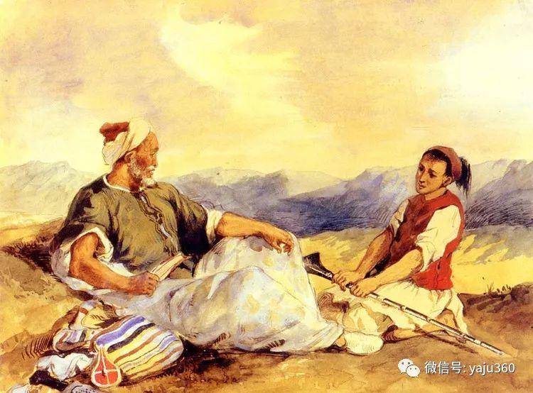 油画世界:法国画家Eugène Delacroix油画作品欣赏插图45