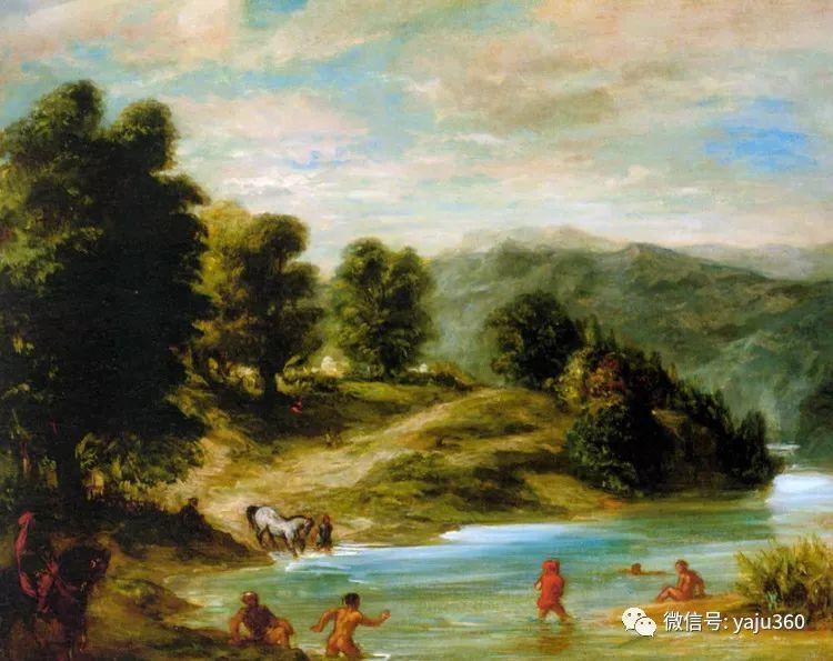 油画世界:法国画家Eugène Delacroix油画作品欣赏插图49