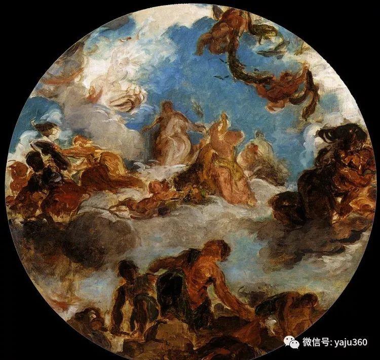 油画世界:法国画家Eugène Delacroix油画作品欣赏插图61