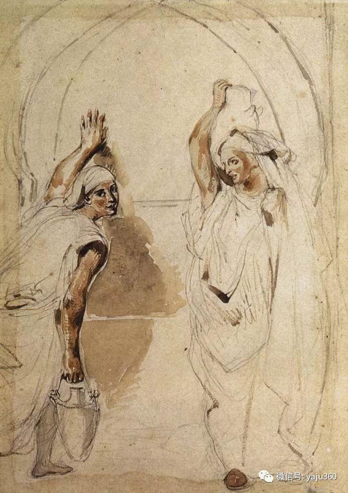 油画世界:法国画家Eugène Delacroix油画作品欣赏插图91