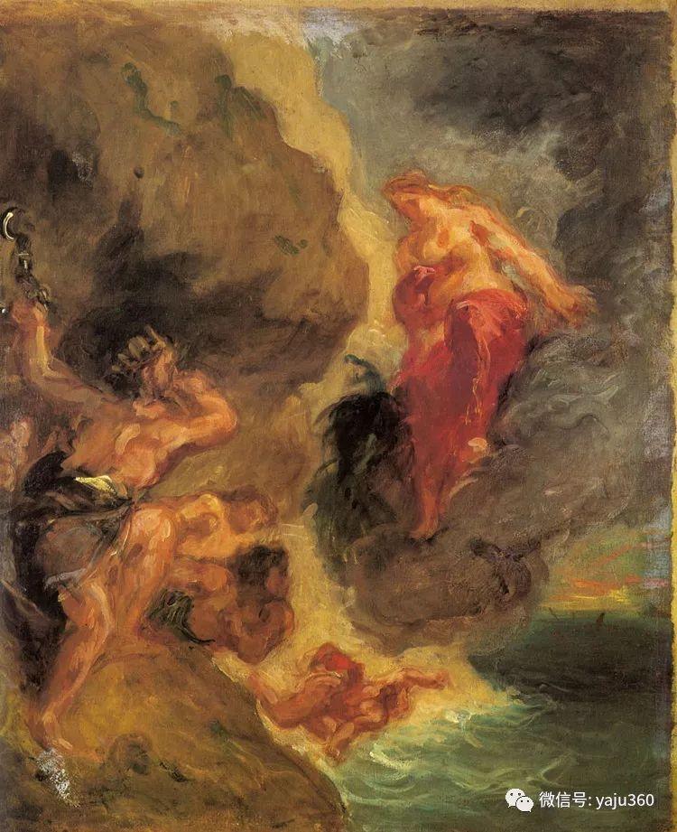 油画世界:法国画家Eugène Delacroix油画作品欣赏插图99