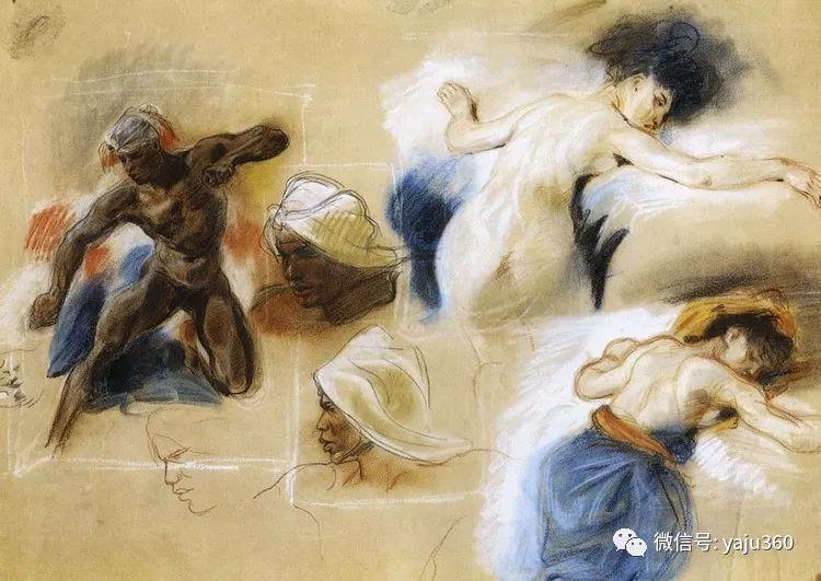 油画世界:法国画家Eugène Delacroix油画作品欣赏插图105