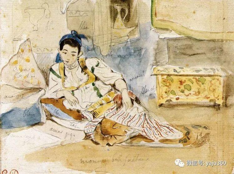 油画世界:法国画家Eugène Delacroix油画作品欣赏插图119