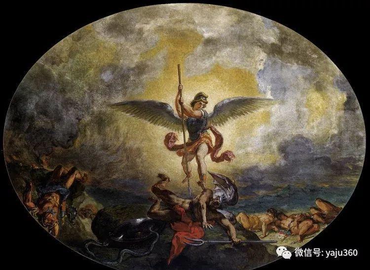 油画世界:法国画家Eugène Delacroix油画作品欣赏插图125