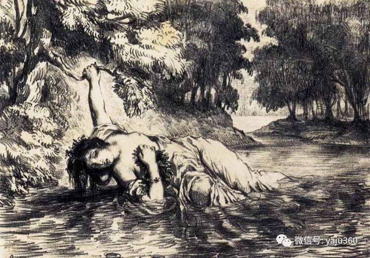 油画世界:法国画家Eugène Delacroix油画作品欣赏插图131