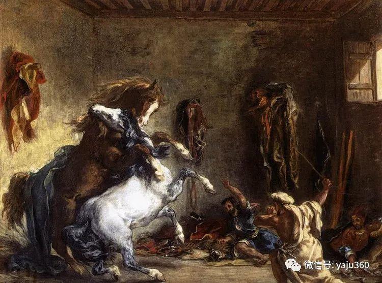 油画世界:法国画家Eugène Delacroix油画作品欣赏插图139