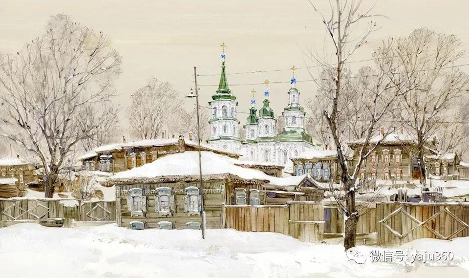 油画世界:俄罗斯的雪景油画欣赏插图