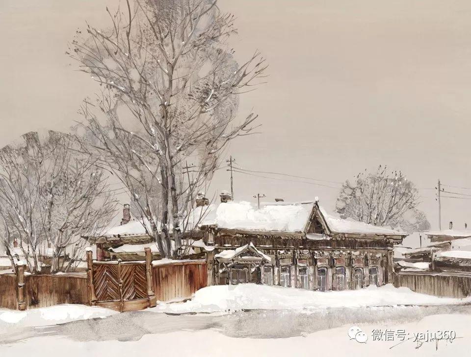 油画世界:俄罗斯的雪景油画欣赏插图1