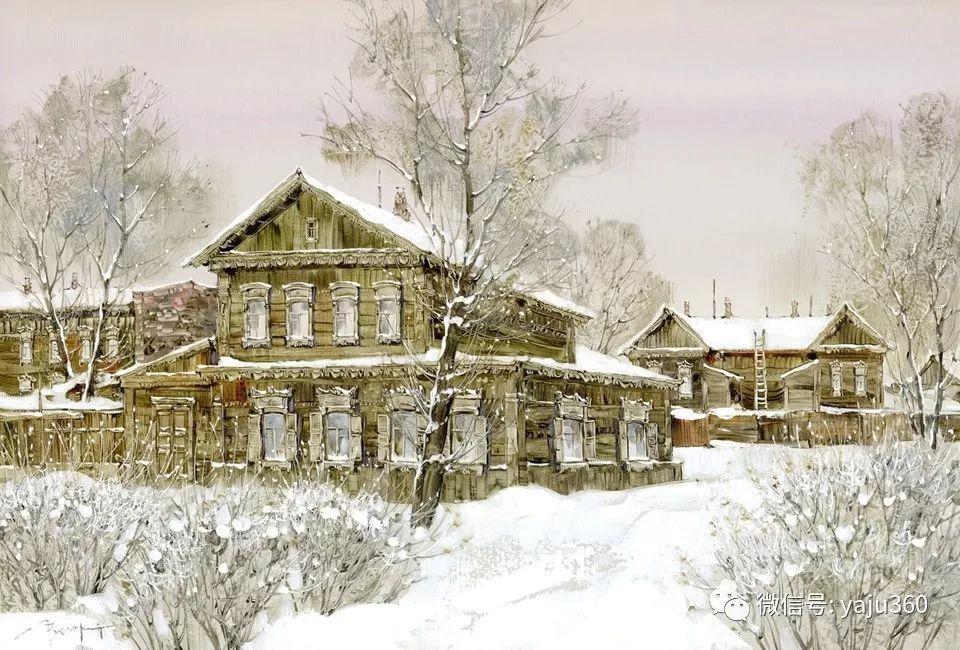 油画世界:俄罗斯的雪景油画欣赏插图14