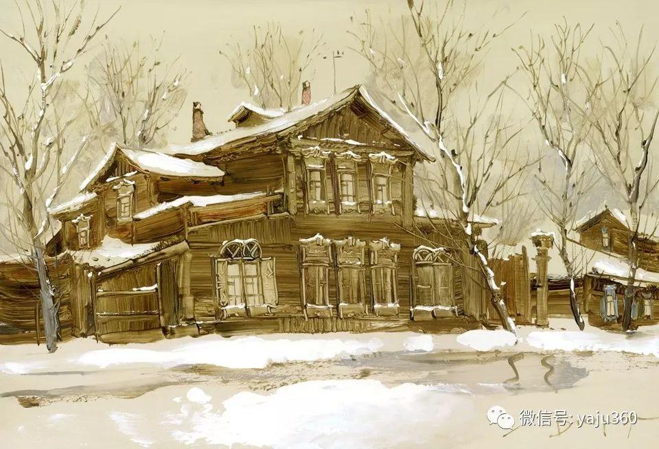 油画世界:俄罗斯的雪景油画欣赏插图15