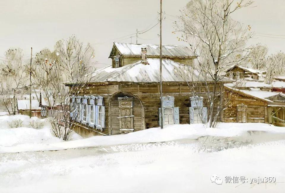 油画世界:俄罗斯的雪景油画欣赏插图16