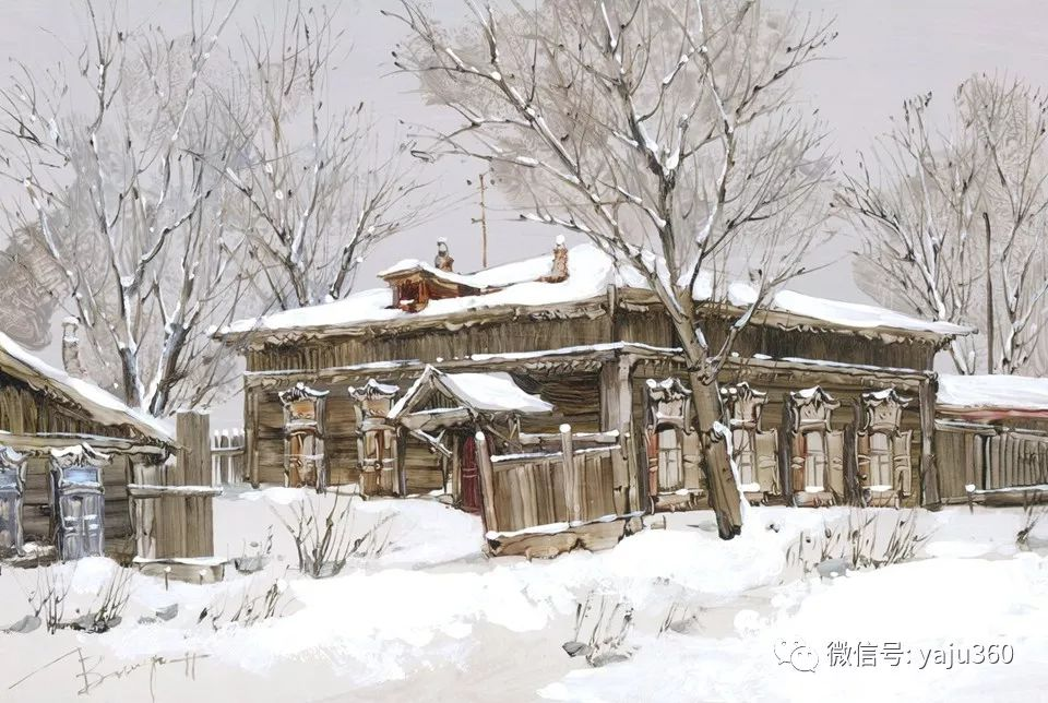 油画世界:俄罗斯的雪景油画欣赏插图19