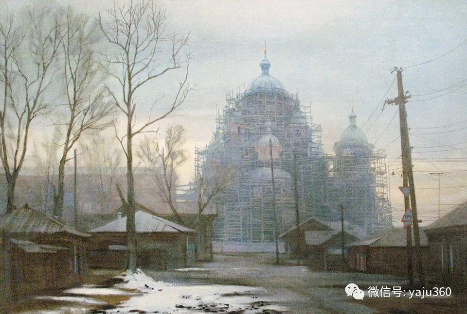 油画世界:俄罗斯的雪景油画欣赏插图20