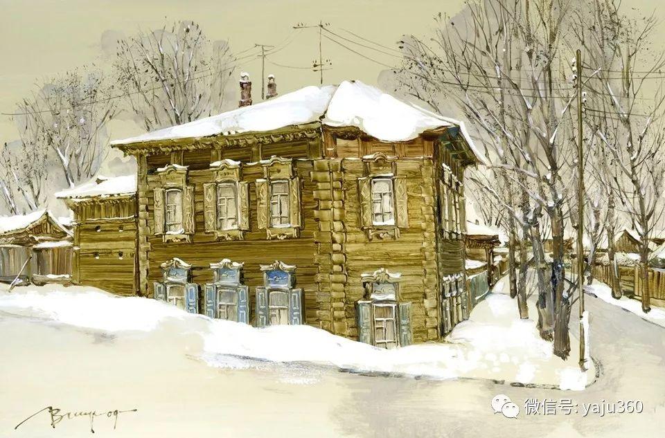 油画世界:俄罗斯的雪景油画欣赏插图21