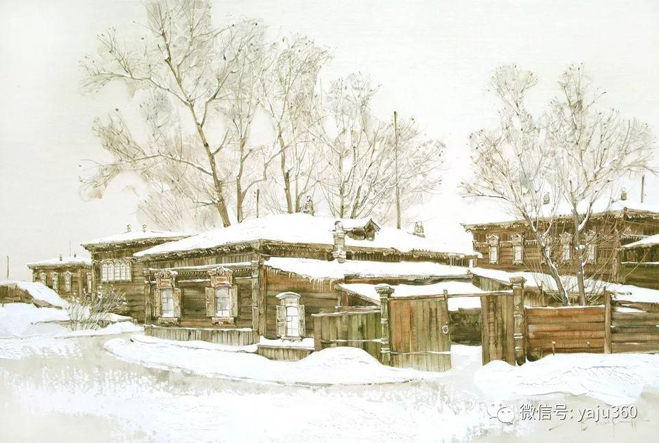 油画世界:俄罗斯的雪景油画欣赏插图22
