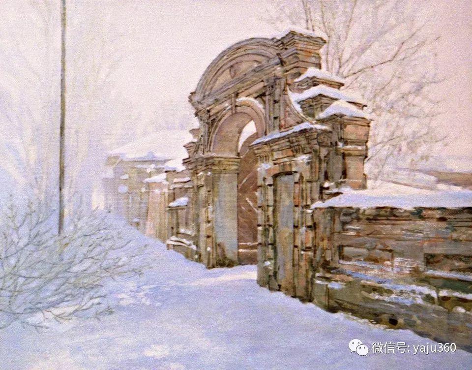 油画世界:俄罗斯的雪景油画欣赏插图25