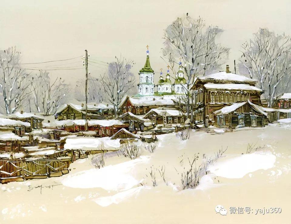 油画世界:俄罗斯的雪景油画欣赏插图27