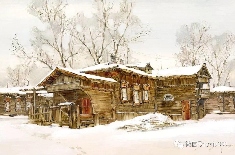 油画世界:俄罗斯的雪景油画欣赏插图30