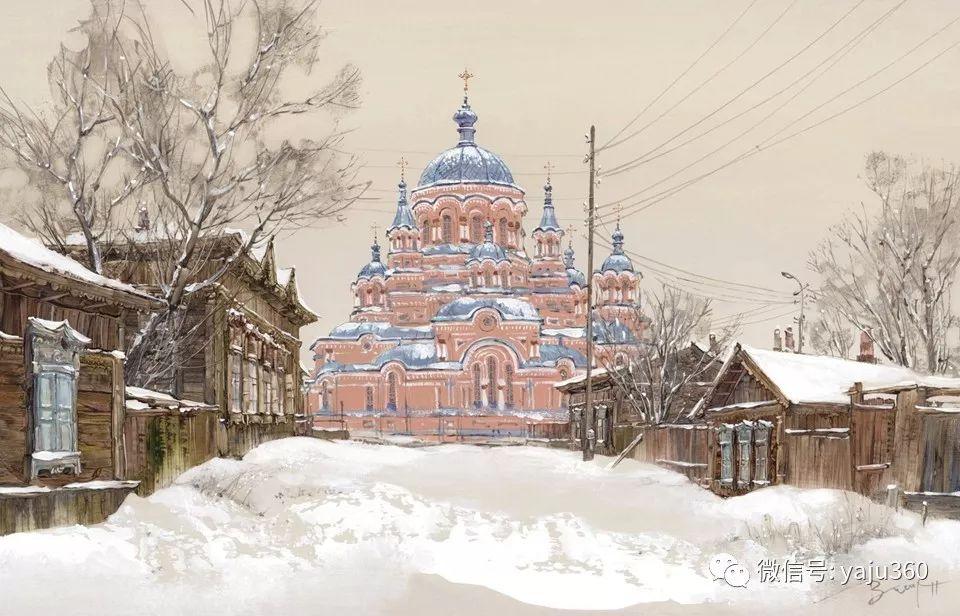 油画世界:俄罗斯的雪景油画欣赏插图31