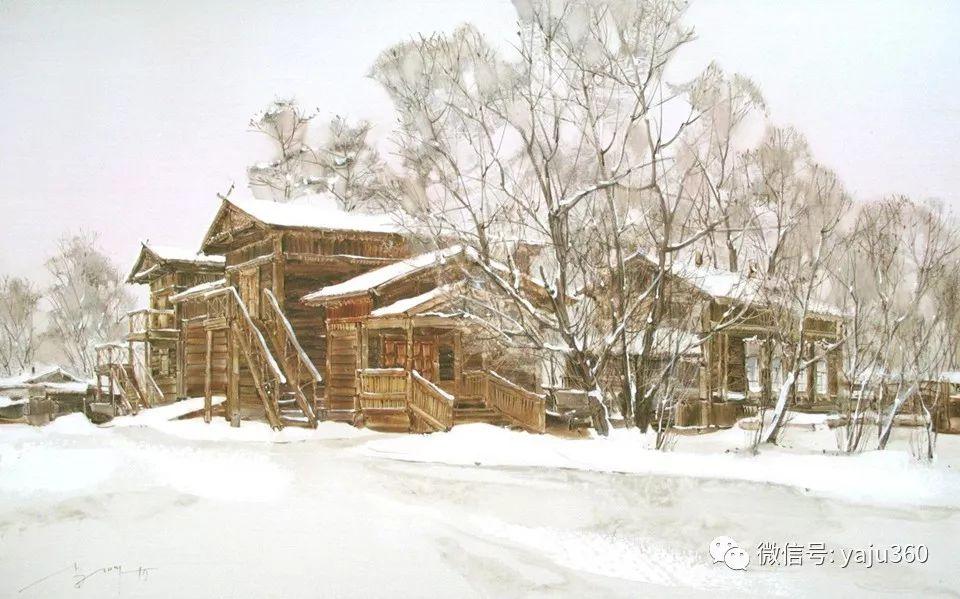 油画世界:俄罗斯的雪景油画欣赏插图34