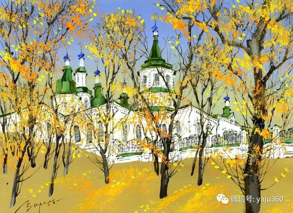 油画世界:俄罗斯的雪景油画欣赏插图36