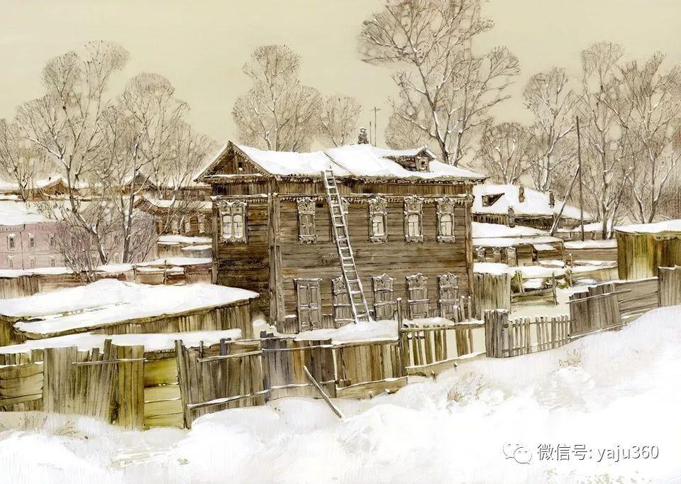 油画世界:俄罗斯的雪景油画欣赏插图38