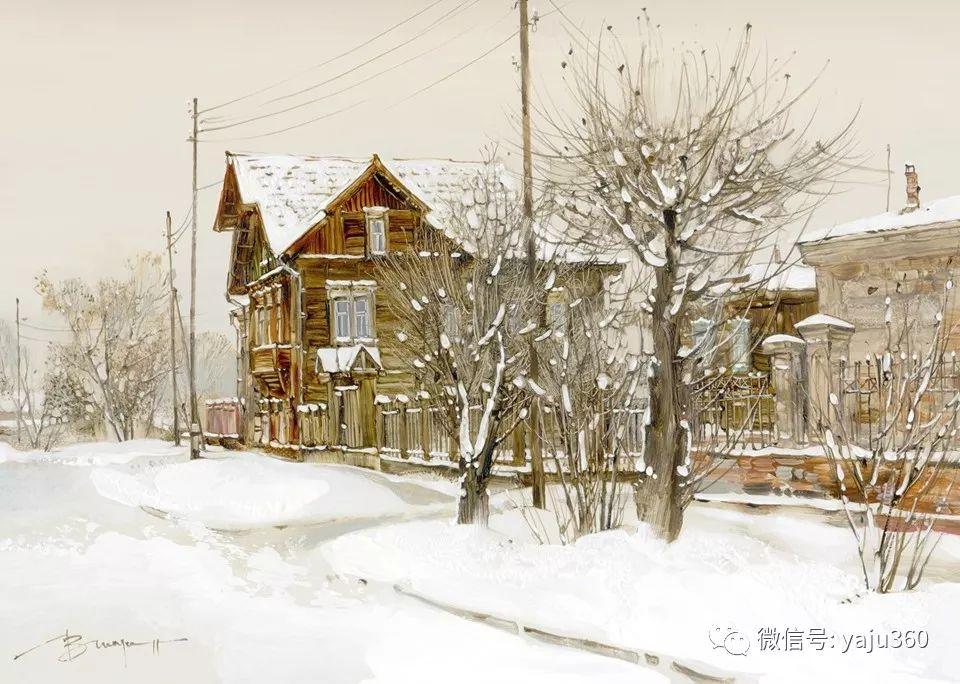油画世界:俄罗斯的雪景油画欣赏插图50