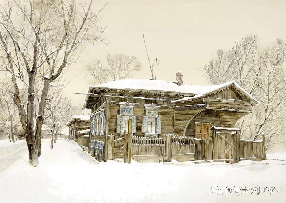 油画世界:俄罗斯的雪景油画欣赏插图51