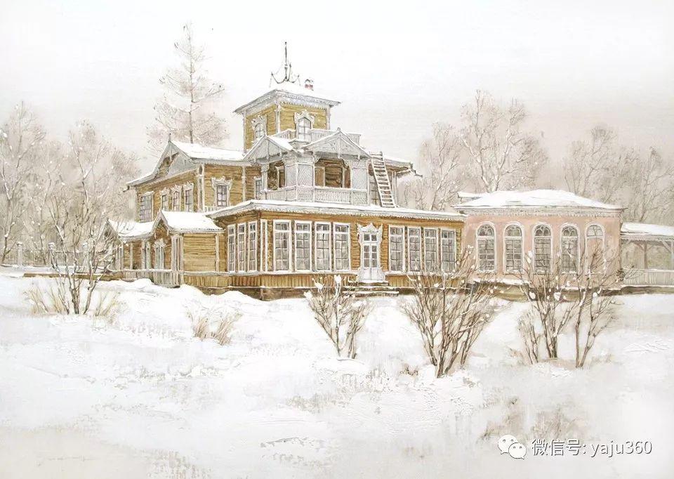 油画世界:俄罗斯的雪景油画欣赏插图53