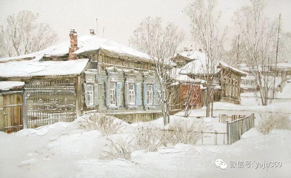 油画世界:俄罗斯的雪景油画欣赏插图56
