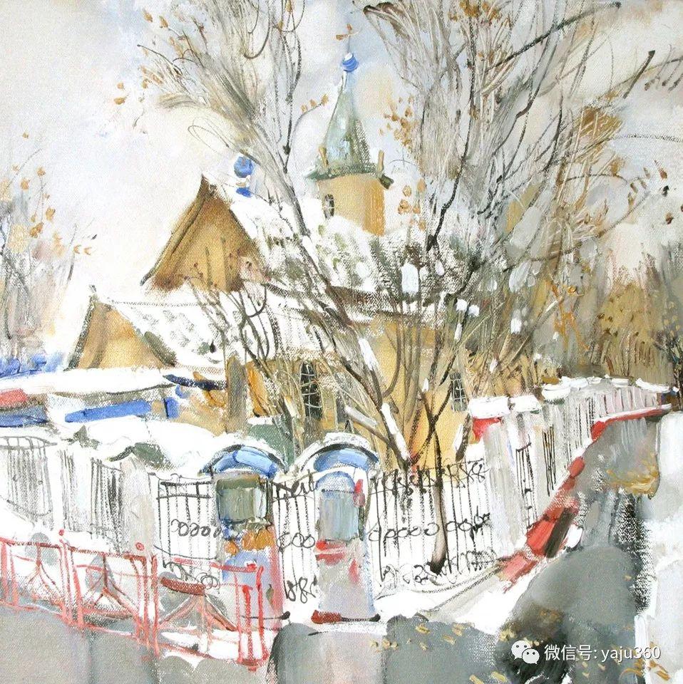 油画世界:俄罗斯的雪景油画欣赏插图62