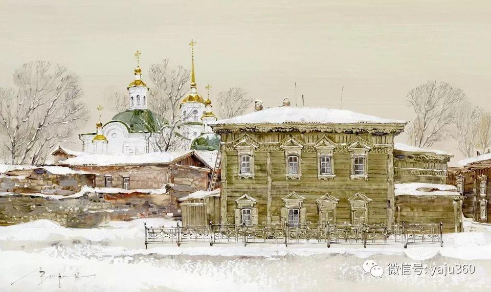 油画世界:俄罗斯的雪景油画欣赏插图71