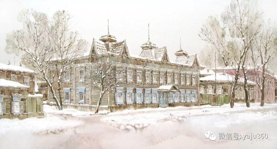 油画世界:俄罗斯的雪景油画欣赏插图77