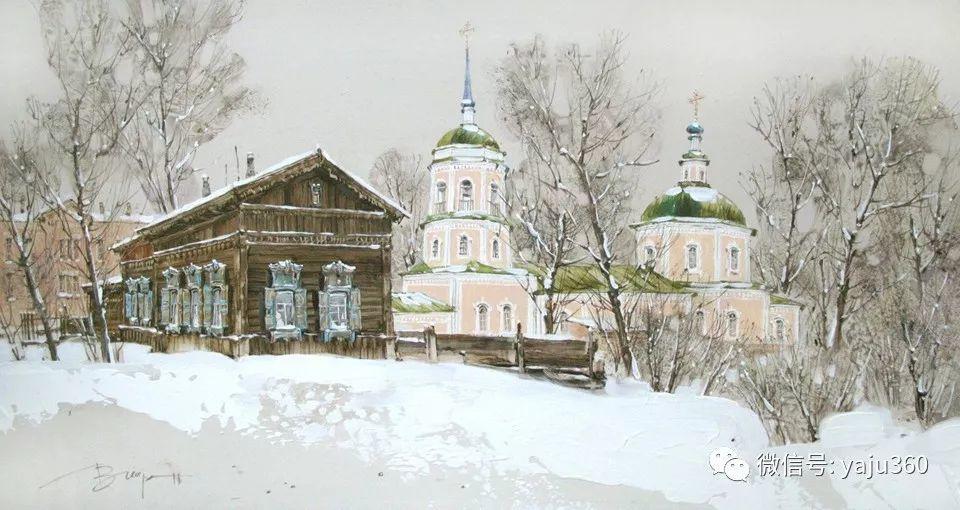 油画世界:俄罗斯的雪景油画欣赏插图78