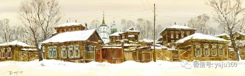 油画世界:俄罗斯的雪景油画欣赏插图85