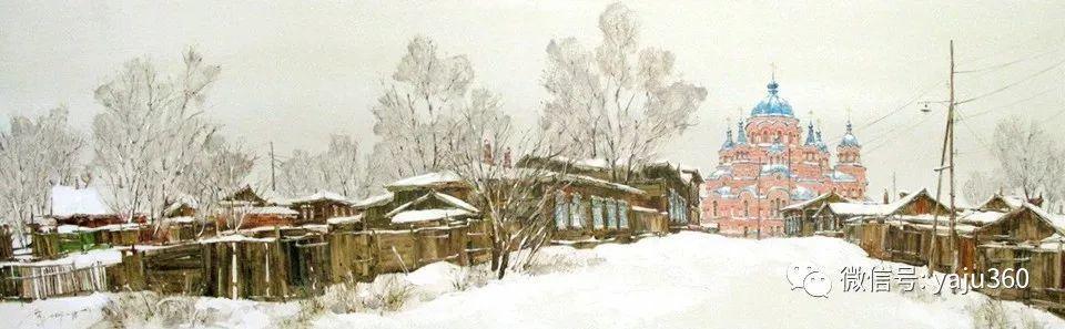 油画世界:俄罗斯的雪景油画欣赏插图86