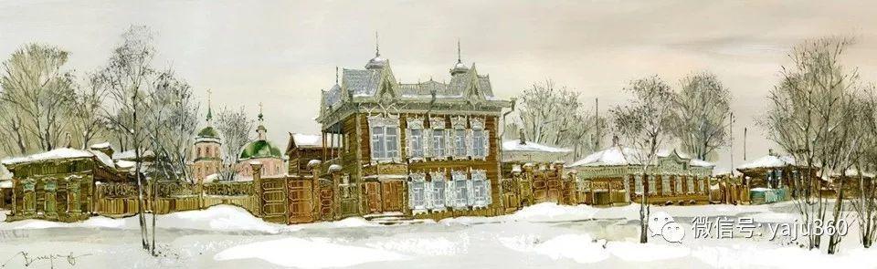 油画世界:俄罗斯的雪景油画欣赏插图87
