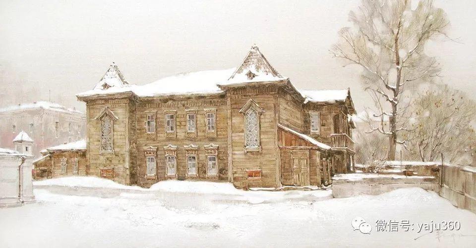 油画世界:俄罗斯的雪景油画欣赏插图89