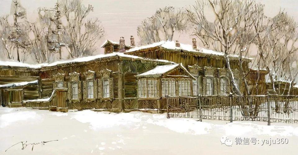 油画世界:俄罗斯的雪景油画欣赏插图90